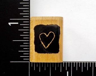 Tiny Heart Block By Annette Watkins Rubber Stamp