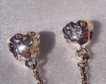 f5a535456 ... coupon code for pandora disney heart of mickey minnie bracelet charm safety  chain 517b3 7c470 ...