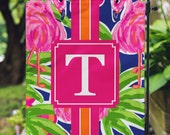 Garden Flag - Flamingo Flag - Personalized Garden Flag - Pink Flamingo - Personalized Yard Flag - RV Flag - Housewarming - Double Sided Flag