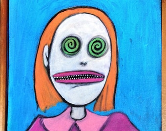 Molly Ringworm of The Eye ~ Original Acrylic Painting by LeanneM ~