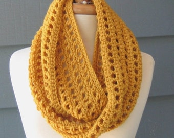 PATTERN S-011 / Crochet Pattern / Leah Infinity ... worsted 300 yds
