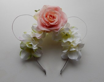 Floral Wire Minnie Mouse Ears