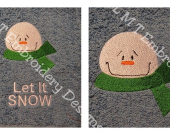 Snowman2 and Let It SNOW Embroidery Design - 2 Designs....