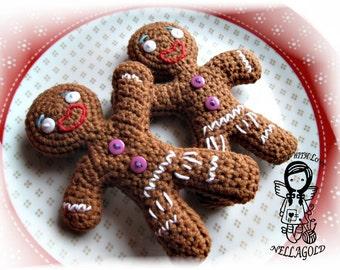Crochet PATTERN, Gingerbread Man 2in1, Christmas, DIY Pattern 16