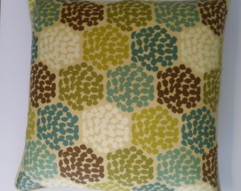 """22"""" Decor Pillow Cover,22"""" x 11"""" Lumbar Pillow Cover,Incl. Piping and Zippers,Contemporary,Greens,Aqua,Ready to Ship,You Pay Shipping.."""