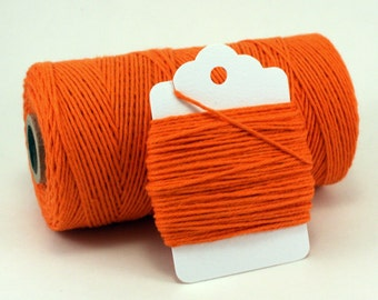Orange Baker's Twine - Twine for Basketball Party Favors - Orange Wedding Twine - Rustic Twine - Carrot Colored - Solid Orange Divine Twine