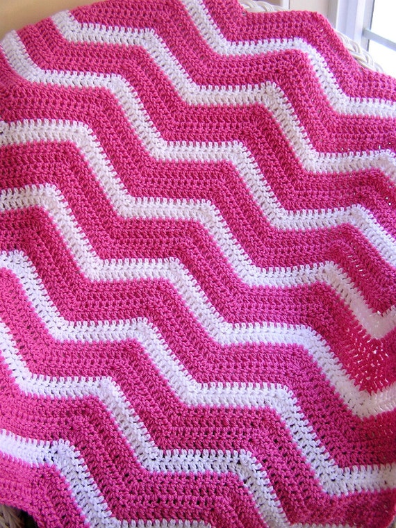 New Chevron Zig Zag Baby Blanket Afghan Wrap Crochet Knit Lap