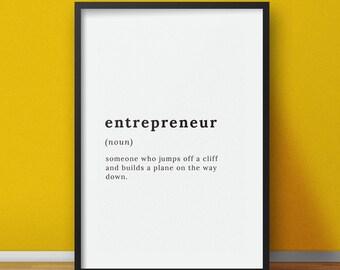 Definition print, Entrepreneur definition, Definition wall art, definition posters, definition sign, funny definition printable digital