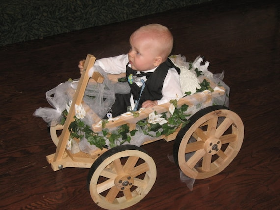 Small Flower Girl Wedding Wagon Unfinished