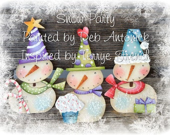 Snow Party by Deb Antonick, Email pattern packet,