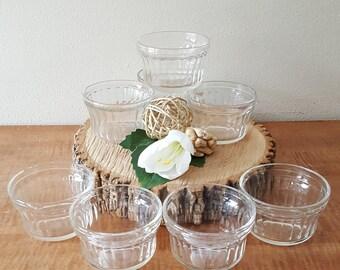 Glass Jelly Jars by Hazel Atlas Set of 8 Glass Jars