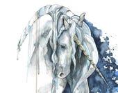 Unicorn Painting, Waterco...