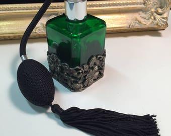 Green Perfume Bottle Atomizer Decanter