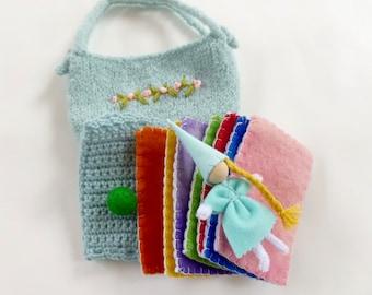 The Princess and the Pea set felted bag doll mattresses pea Fairy tale