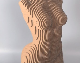 Sliced Woman Torso  - DIY Cardboard Craft