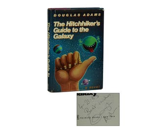 Hitchhiker's Guide to the Galaxy ~ SIGNED by DOUGLAS ADAMS ~ First Edition 1st