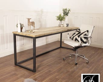 modern shaped handmade l office il home computer industrial listing desk