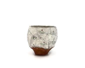 Handmade Ceramic Garden Yunomi