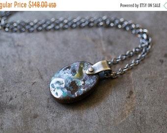ON SALE Australian Boulder Opal Necklace, Raw Boulder Opal Necklace, Koroit Opal Necklace, Raw Opal - Keeper of Secrets
