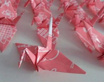 Set of origami cranes: Graffiti Collection