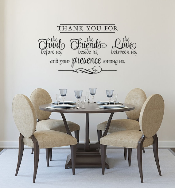 Vinyl Wall Decal Thank You Bless The Food