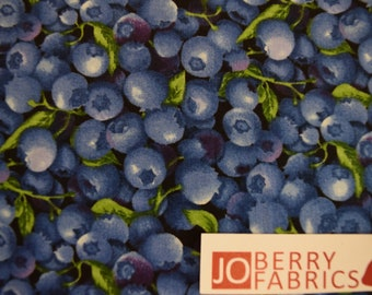 Blueberries from Farmer John's Garden Collection by Paint Brush Studio.  Quilt or Craft Fabric, Fabric by the Yard.