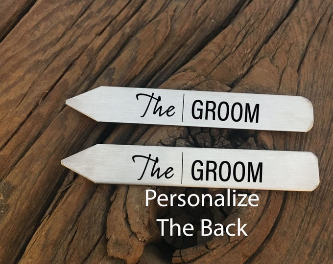 The Groom Collar Stay Wedding Collar Stay Grooms Collar Stay Engraved Groom Collar Stay For The Groom Wedding Gift For Groom