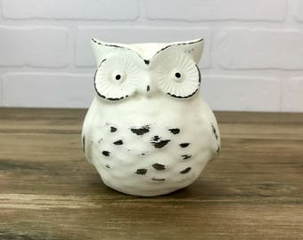 Owl Figurine//Owl Collectible//Available in a Variety of Colors//Bird Figurines//Rustic Farmhouse Decor//Shabby Chic Primitive Owls
