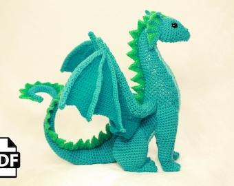 Amigurumi Dragon Wings : Digital pdf dragon crochet amigurumi digital pattern