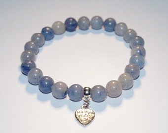 Blue Aventurine Inner Peace Crystal Healing Gemstone Bracelet Amelie Hope Crystals Power Bead
