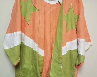 Vintage Linen Funky Shirt One Size Fits All
