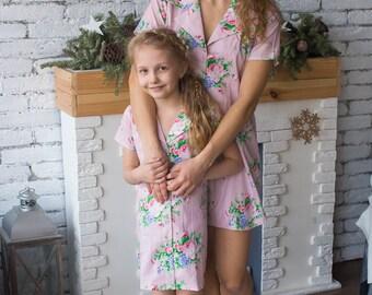 Matching Shirt Dresses - Matching Mommy Baby dresses - Matching Outfit, Mom and Me, Matching dresses, Mini Me, Shift dress, tunic dress