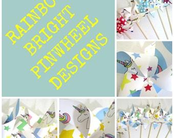 Unicorn Birthday Favors Paper Pinwheels Unicorns Party Decorations Birthday Party Favors Unicorn Decoration Table Centerpiece Rainbow Decor