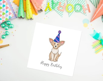 Chihuahua Birthday Card - chihuahua - birthday card - greeting cards - ideal for dog lovers