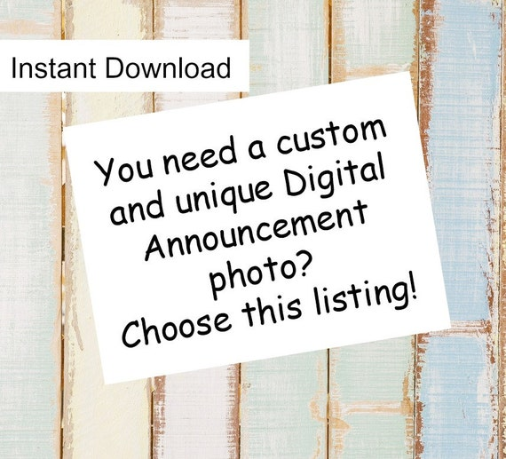 Personalized Custom Digital Announcement / How to announce pregnancy / Unique way to announce pregnancy / Unique Baby Announcement Digital