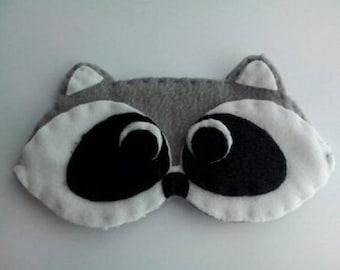 Sleeping mask raccoon
