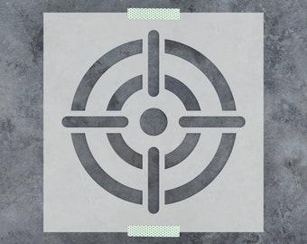 Bullseye Stencil - Reusable DIY Craft Stencil of Various Bullseye Designs