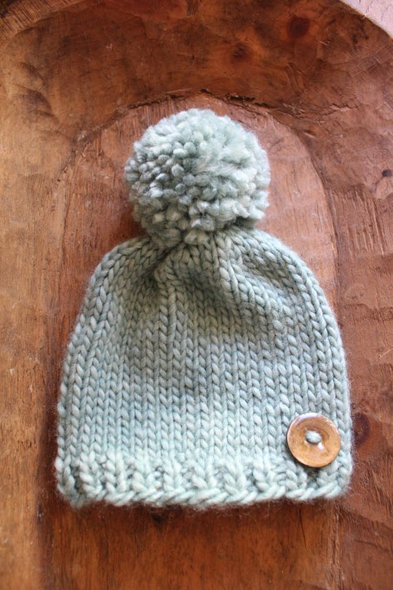 Beanie / Baby Beanie / Childrens hats / ski beanies / Teal Baby / Green baby hats / Roving / Soft Woolen Hats / Knitted Beanies / Beanies