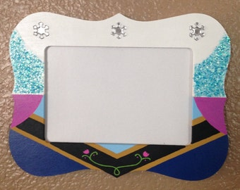 Frozen Elsa and Anna 4X6 Picture Frame