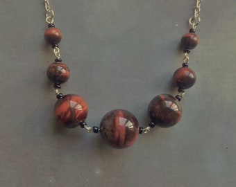 Red Tigers Eye Necklace