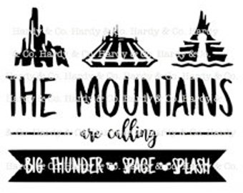 The Mountains are Calling Design 2