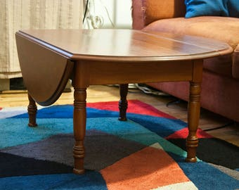 Refinished Drop Leaf Coffee Table
