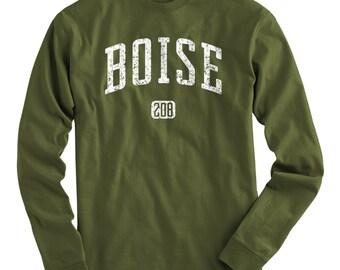 LS Boise 208 Tee - Long Sleeve T-shirt - Men and Kids - S M L XL 2x 3x 4x - Idaho - 4 Colors