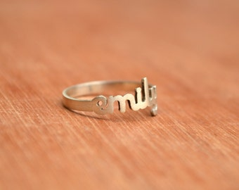 SALE! -Name Ring -Sterling Silver - Personalized Ring