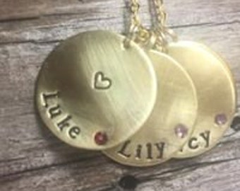 Grandmother's necklace in brass