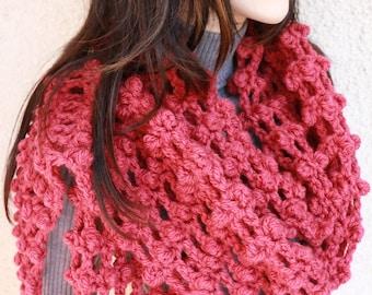 Crochet Scarf PATTERN, Long Scarf, Fringe Scarf, Chunky Scarf Easy Crochet DIY Gift, Instant Download PDF Pattern No.63, Lyubava Crochet