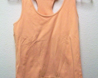 VICTORIA SECRET Women's Peach Racer Back Scoop Neck Tank Top Size Medium