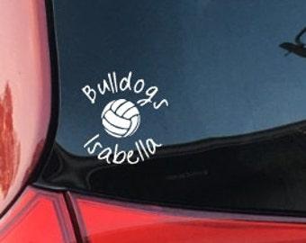 Volleyball Name Decal, Volleyball Team Vinyl, School Vinyl; Car Decal, Car Vinyl, Computer, Laptop, Coffee Mug, Window Decal, Window Vinyl
