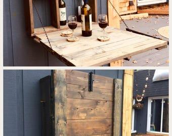 Outdoor wine/liquor rack