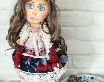 OOAK, gypsy, dolls, exotic dolls, interior dolls, rag doll, latino doll, decorative doll, collectible dolls, doll cotton, Fabric doll